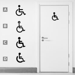 Handicap Sign Vinyl Decal