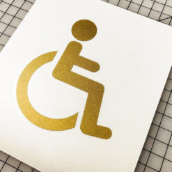 Handicap Sign Vinyl Decal