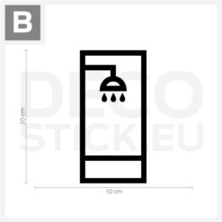 Shower Room Sign Vinyl Decal