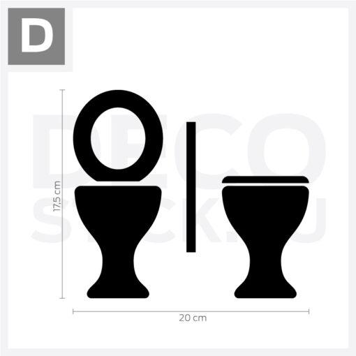 WC vinyl decal