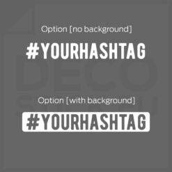 Hashtag vinyl decals