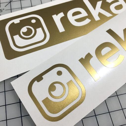 Instagram vinyl decals