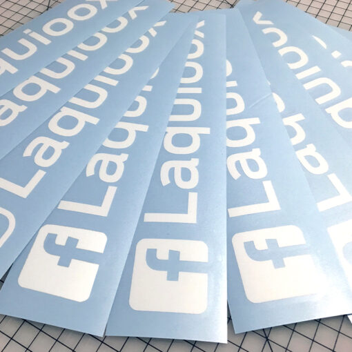 Facebook vinyl decals