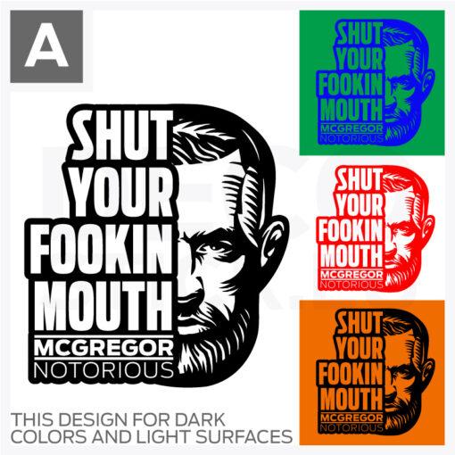 Conor McGregor Vinyl Decal
